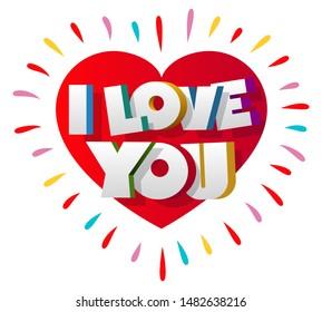 Love Text Design Art