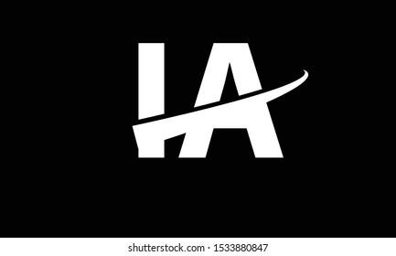 IA abstract vector logo monogram template