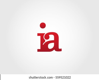 ia lowercase logotype