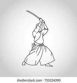 Iaido vector logo icon illustration