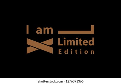iam limited edition illustration for t shirt design vector