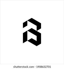 IB or BI letter logo design vector.