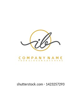 IB Initial handwriting logo concept - Shutterstock ID 1423257293