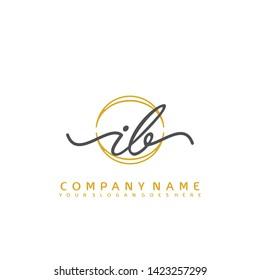 IB Initial handwriting logo concept - Shutterstock ID 1423257299