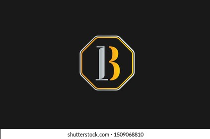 IB Letter Logo Design with Creative Modern Trendy Typography