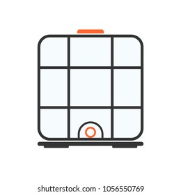 Ibc container icon. Intermediate Bulk Container. Vector clipart image isolated on white background