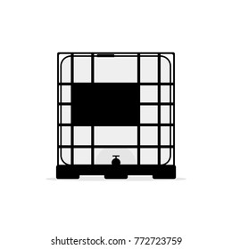 ibc container icon. Vector illustration isolated on white background