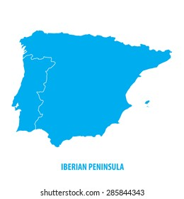 Iberian Peninsula Map Images, Stock Photos & Vectors | Shutterstock