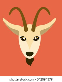 Ibex Face Vector