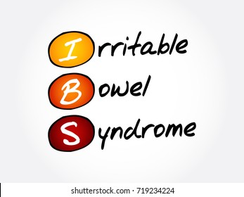 IBS - Irritable Bowel Syndrome, acronym health concept background