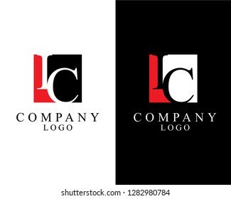 ic/ci initial company logo template vector