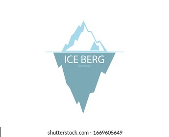 ice berg logo design on the white background .