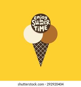 ice cream card design. vector illustration