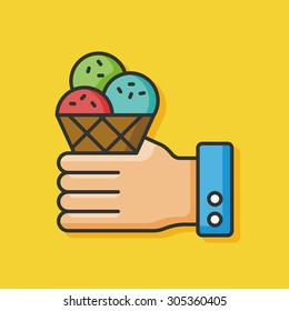 ice cream color line icon