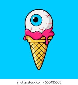 Ice cream Cone with Eye