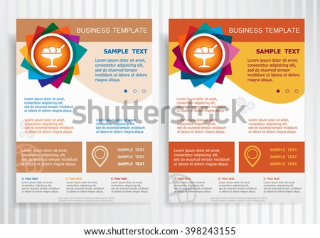 ice cream icon on abstract vector stock vector royalty free