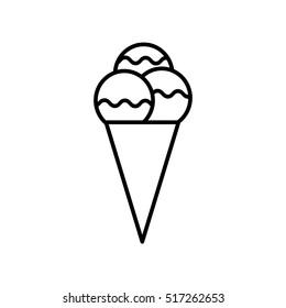 ice cream outline icon