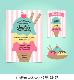 1000 Ice Cream Invitation Stock Images Photos Vectors