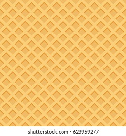 Ice cream pattern waffle texture vector illustration.