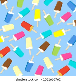ice cream, popsicle on a stick - hot summer vector illustration