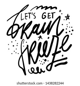 Ice cream quote. Hand lettering illustration for menu, cafe, banner
