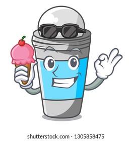 With ice cream roll on deodorant in cartoon bottle