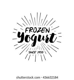 Ice Cream shop Design Labels. Vector Illustration. Retro design element. Vintage Emblem Creamery. Ice Cream and Frozen Yogurt Logos. Summer badges.