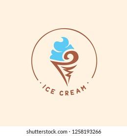 ice cream template logo vector