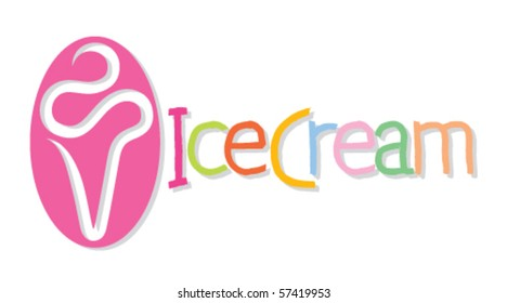 Ice cream. Vector