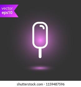 Ice Cream vector flat icon. EPS 10 flat Ice-Cream symbol