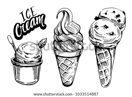 ice cream vector illustration stock vector royalty free 1033514887