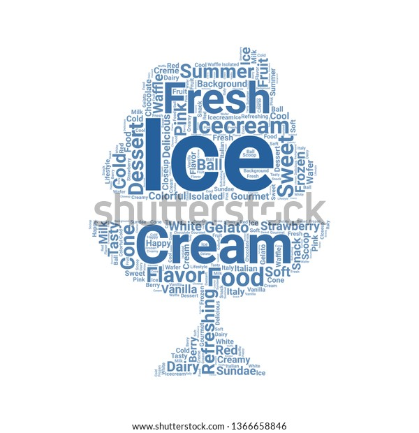 Ice Cream Word Cloud Tag Cloud Stock Vector (Royalty Free