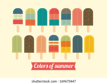 ice cream/ice lolly vector/illustration