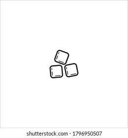 ice cube black symbols lini design icon