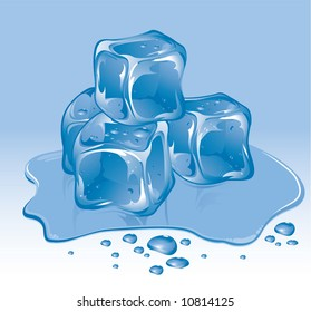 Ice cubes #2. Vector.