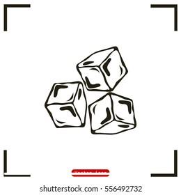 ice cubes symbol