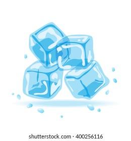 Ice cubes, vector illustration