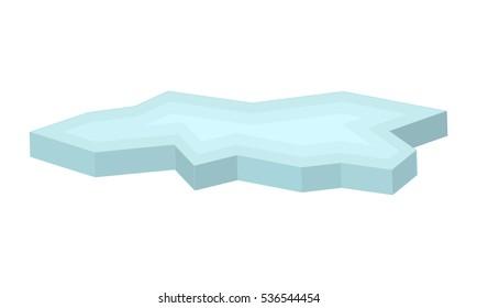 ice floe vector symbol icon design. Beautiful illustration isolated on white background