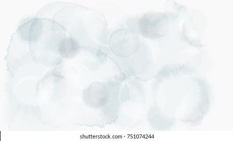 ice frost grey and blue tone color abstract vector background, look like watercolor drop style idea for winter greeting