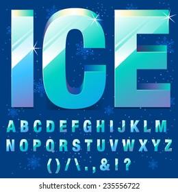 Ice Frozen Letters
