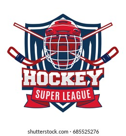 Ice Hockey badge, logo, emblem team tournament template