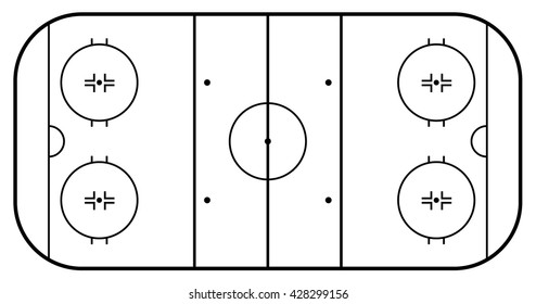 Ice hockey field  . Vector illustration
