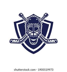 Ice Hockey Helmet Logo Illustrations and Vectors, best used for ice hockey club logo