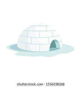 Ice igloo vector icon.Cartoon vector icon isolated on white background ice igloo.