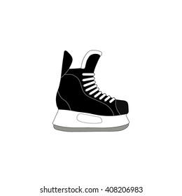 Ice skate icon isolated on white background