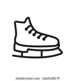 Ice skate icon in trendy outline style design. Vector graphic illustration. Suitable for website design, logo, app, and ui. Editable vector stroke. EPS 10.