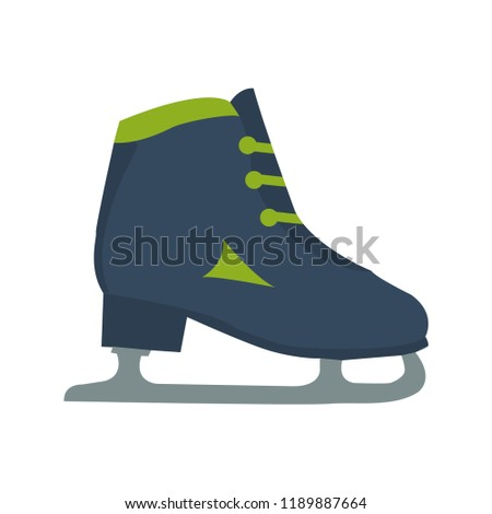 ice skating shoes flat icon you stock vector royalty free