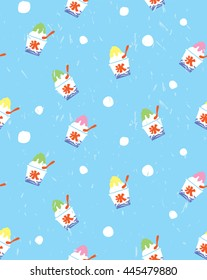 ice vector seamless pattern