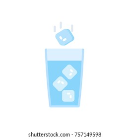 Ice water. vector illustration