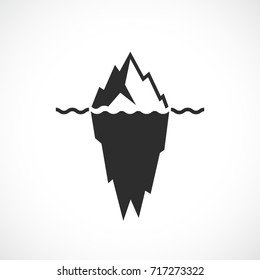 Iceberg black silhouette vector illustration on white background